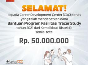 CDC Itenas Bandung Lolos Seleksi Hibah Program Fasilitasi Pelaksanaan Tracer Study Tahun 2021