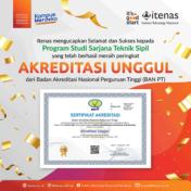 Selamat! Program Studi Sarjana Teknik Sipil Itenas Bandung Raih Akreditasi Unggul
